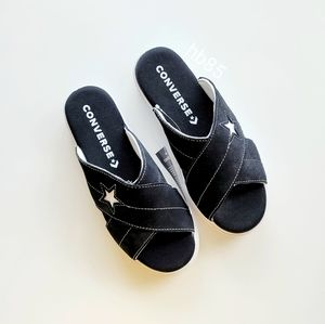 Converse One Star Sandal Slip Black/Egret/White